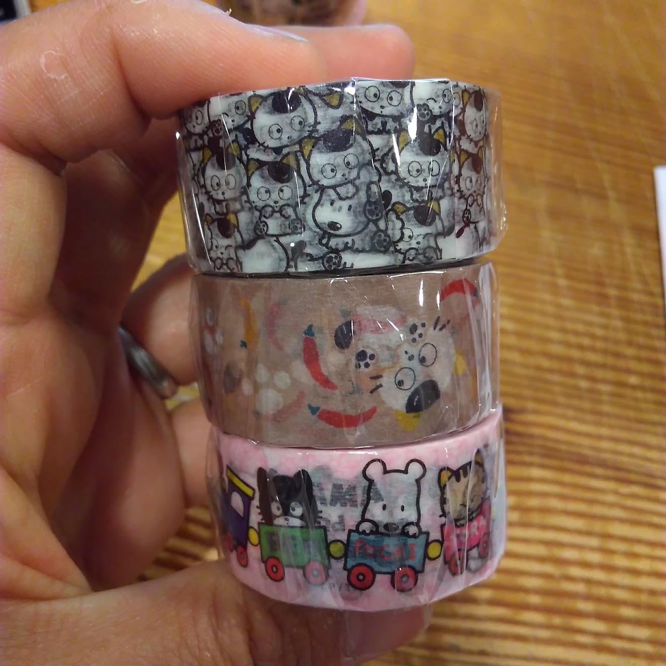 【タマ&フレンズのマスキングテープ】懐かしいイラストです!