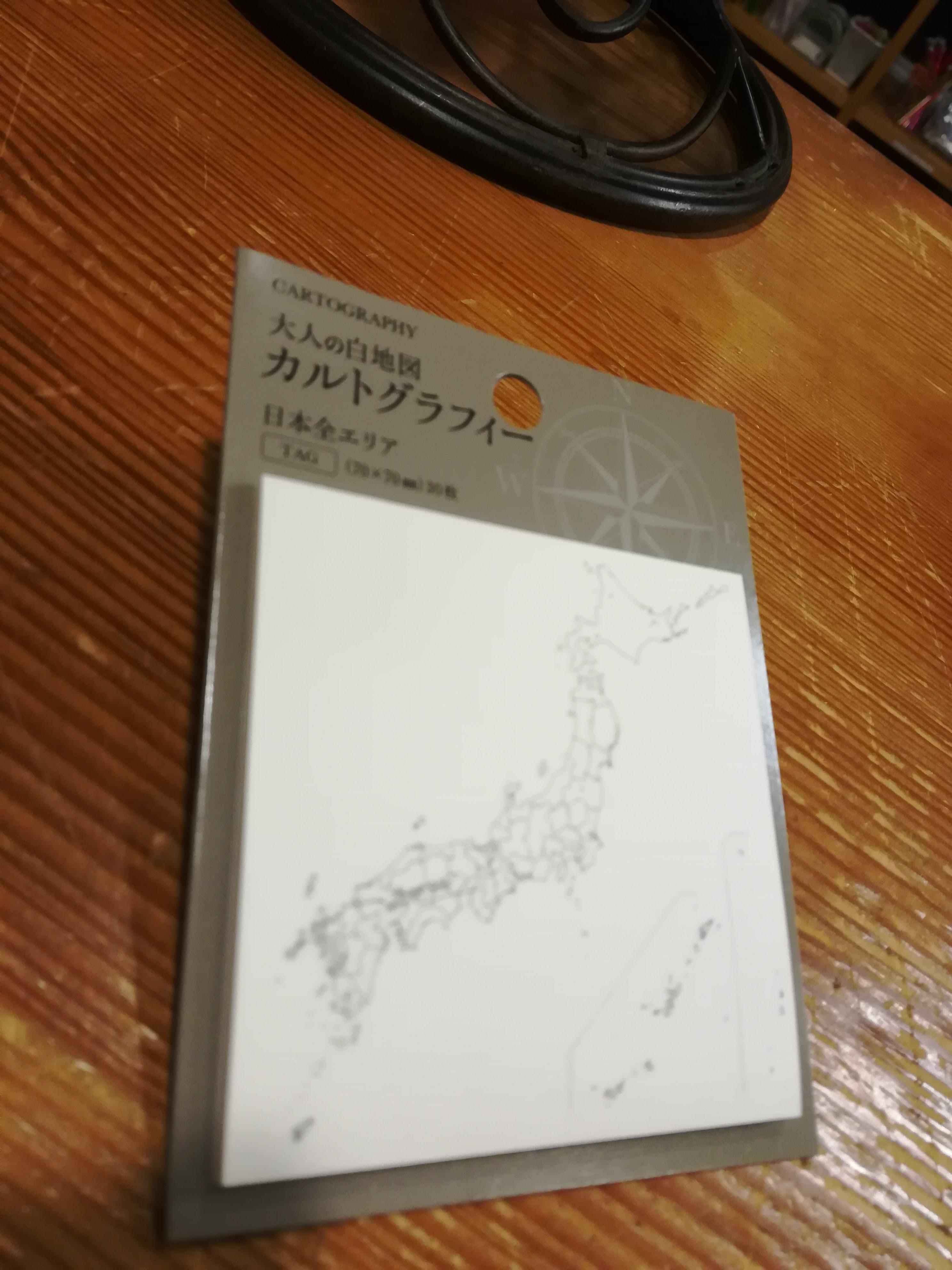 【フライトログやお土産にピタッと】大人の白地図カルトグラフィー